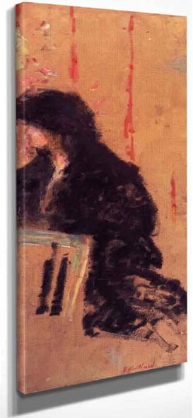 A Somber Dress By Edouard Vuillard