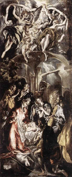 Adoration Of The Shepherds1 By El Greco Art Reproduction