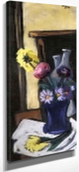 Autumn Flowers By Max Beckmann By Max Beckmann