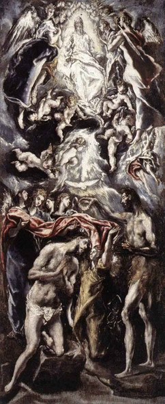 Baptism Of Christ By El Greco Art Reproduction