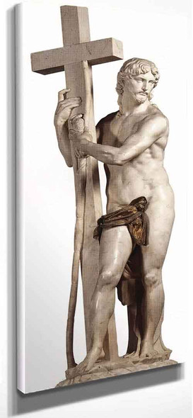 Christ Carrying The Cross By Michelangelo Buonarroti By Michelangelo Buonarroti