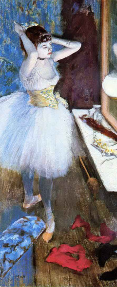 Dancer In Her Dressing Room1 By Edgar Degas Art Reproduction
