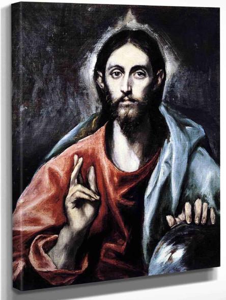 Christ As Saviour1 By El Greco By El Greco