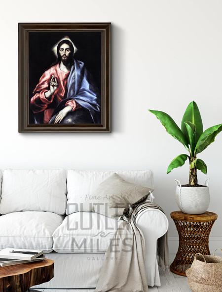 Christ As Saviour By El Greco By El Greco