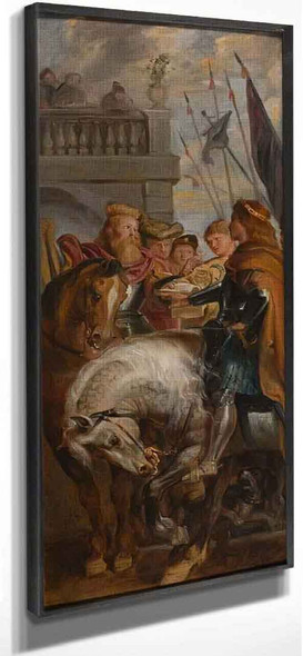 King Clothar And Dagobert Dispute With A Herald From The Emperor Mauritius By Peter Paul Rubens