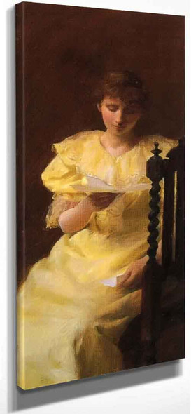 Lady In Yellow By Charles Courtney Curran By Charles Courtney Curran