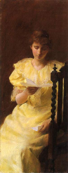 Lady In Yellow By Charles Courtney Curran Art Reproduction
