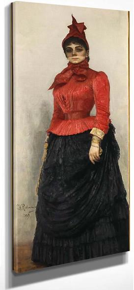 Portrait Of Baroness Varvara Ikskul Von Hildenbandt. By Ilia Efimovich Repin