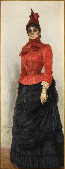 Portrait Of Baroness Varvara Ikskul Von Hildenbandt. By Ilia Efimovich Repin Art Reproduction