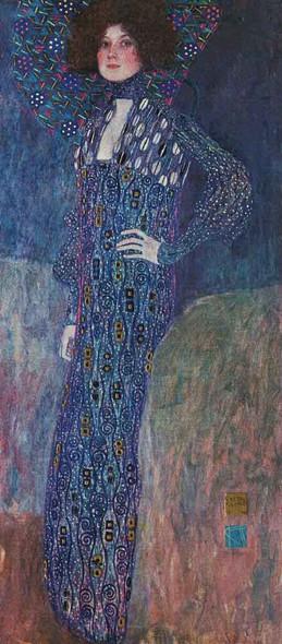 Portrait Of Emilie Floge By Gustav Klimt Art Reproduction