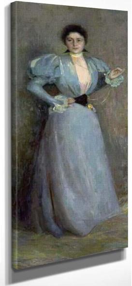Portrait Of Madame Piettre By Henri Le Sidaner By Henri Le Sidaner
