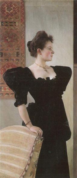Portrait Of Marie Breunig By Gustav Klimt Art Reproduction
