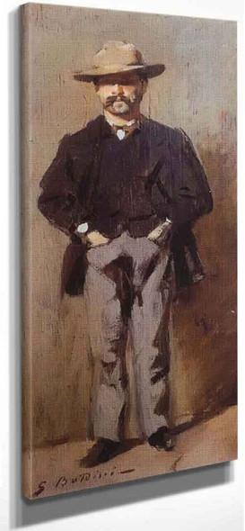 Portrait Of Poldo Pisani By Giovanni Boldini By Giovanni Boldini