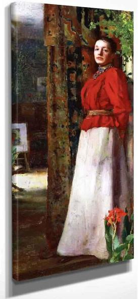 Portrait Of The Artist's Wife Caroline By William Blair Bruce