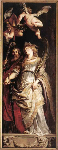 Raising Of The Cross Sts Eligius And Catherine By Peter Paul Rubens Art Reproduction