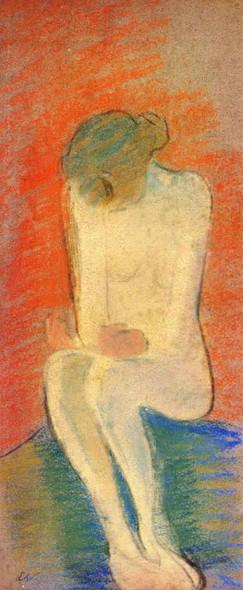 Seated Nude By Edouard Vuillard Art Reproduction