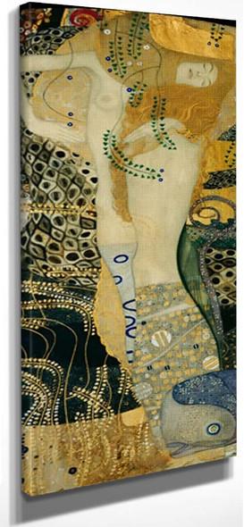 Water Snakes By Gustav Klimt