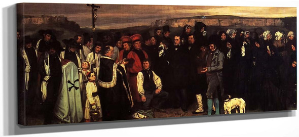 A Burial At Ornans By Gustave Courbet
