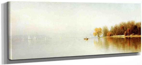 An Indian Summer's Day On The Hudson Tappan Zee By Sanford Robinson Gifford
