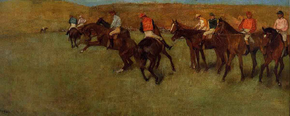 At The Races Before The Start By Edgar Degas