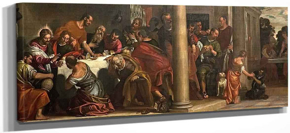 Banquet Scene Last Supper By Paolo Veronese
