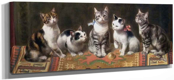 Cat Family By Carl Reichert