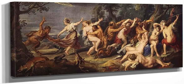 Diana And Her Nymphs Surprised By The Fauns By Peter Paul Rubens
