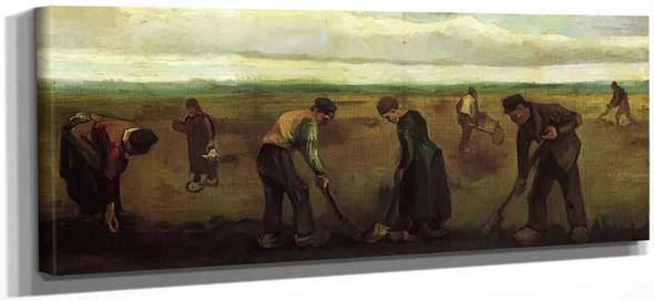 Farmers Planting Potatoes By Vincent Van Gogh