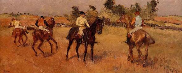 Four Jockeys By Edgar Degas
