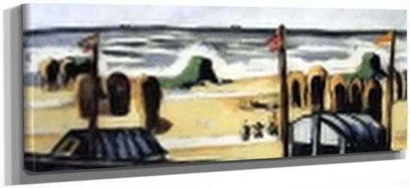 Gray Beach By Max Beckmann By Max Beckmann