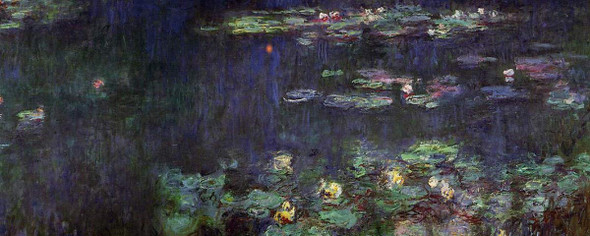 Green Reflection (Right Half) By Claude Oscar Monet(French, 1840 1926)