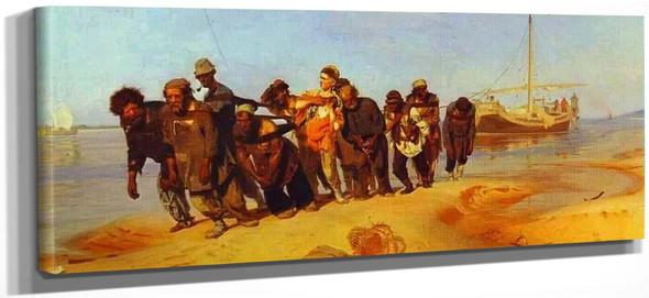 Haulers On The Volga. By Ilia Efimovich Repin