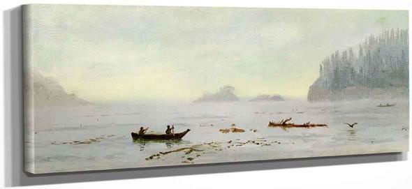 Indian Fisherman By Albert Bierstadt