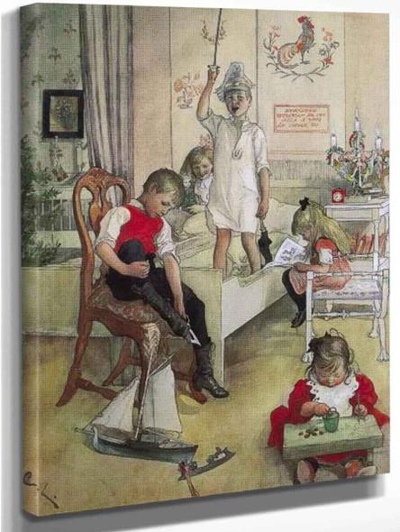 Christmas Morning By Carl Larsson