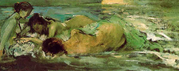 Naked Women On The Beach By Ignacio Pinazo Camarlench By Ignacio Pinazo Camarlench