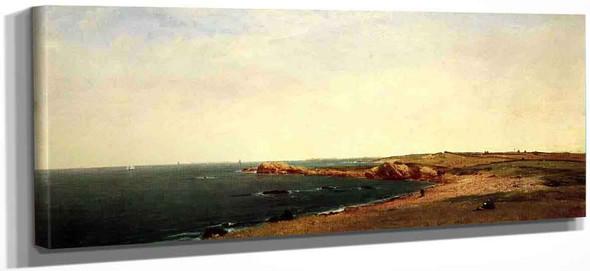 Near Newport1 By John Frederick Kensett By John Frederick Kensett