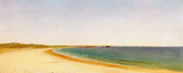 Near Newport By John Frederick Kensett By John Frederick Kensett