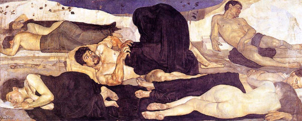 Night By Ferdinand Hodler  By Ferdinand Hodler