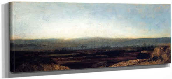 Panoramic Landscape On The Outskirts Of Paris By Theodore Rousseau