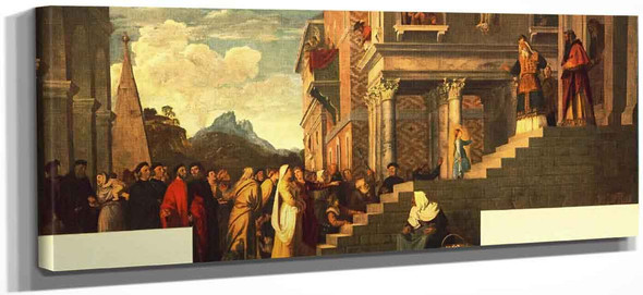 Presentation Of The Virgin At The Temple By Titian