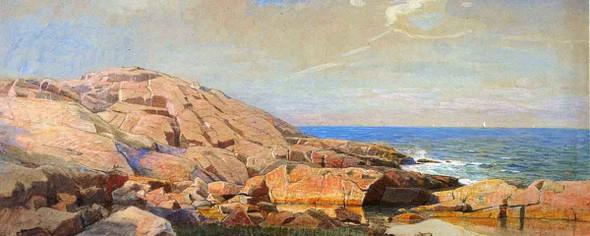 Rocky Coast Of New England By William Stanley Haseltine