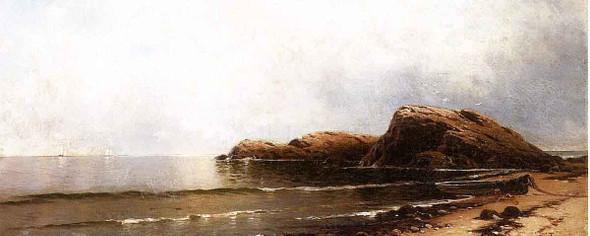 Rocky Seacoast 2 By William Trost Richards By William Trost Richards
