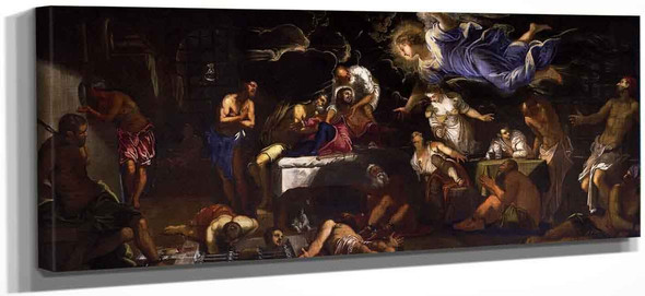 Saint Roch In Prison Visited By An Angel By Jacopo Tintoretto