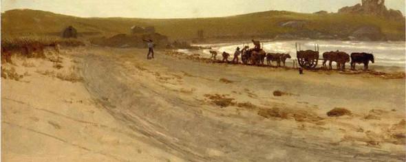 Seaweed Harvesting By Albert Bierstadt