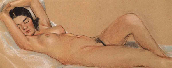Sleeping Nude By Sergei Arsenevich Vinogradov Russian 1869 1938