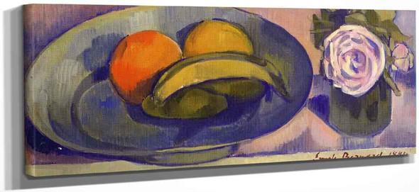 Still Life With Banana By Emile Bernard