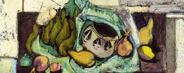 Still Life With Pears And Indian Bowl By Alfred Henry Maurer By Alfred Henry Maurer