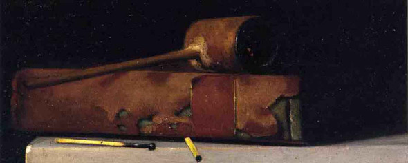 Still Life With Pipe And Book By John Frederick Peto By John Frederick Peto