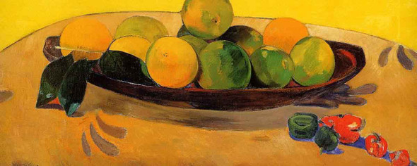 Still Life With Tahitian Oranges By Paul Gauguin