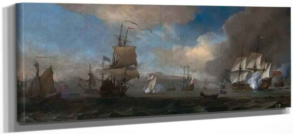 The Battle Of Solebay, 26 May 1672 By Willem Van De Velde The Younger